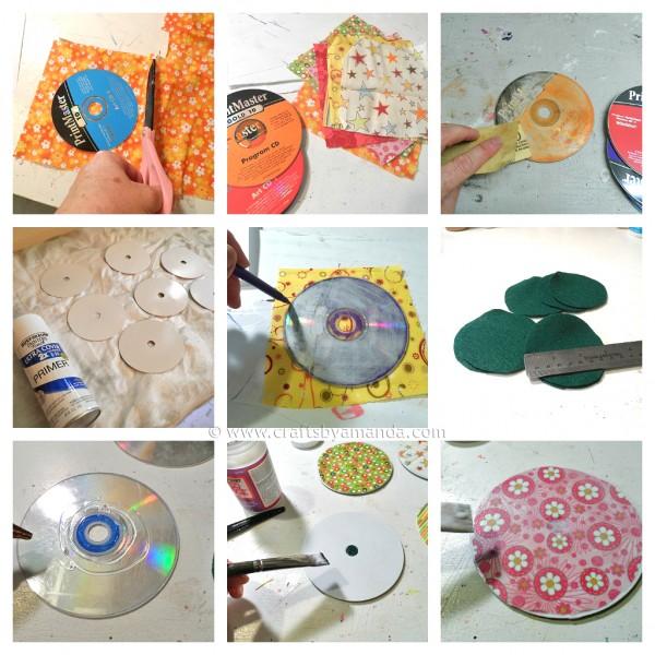 tutorial para hacer posavasos con cds