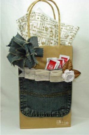 bolsa de papel decorada