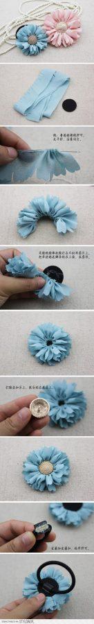tutorial de como hacer un coletero en forma de flor