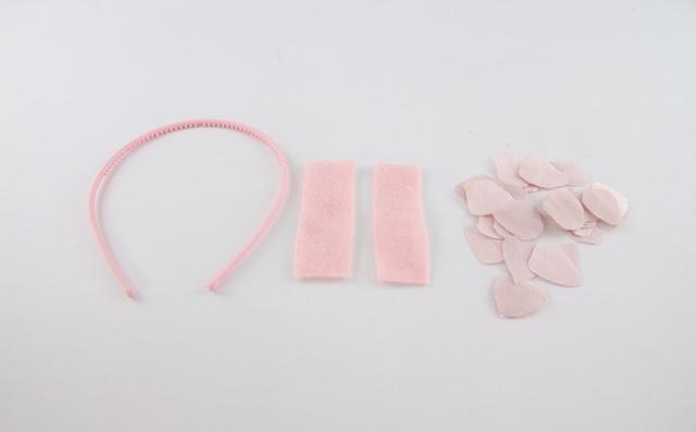 materiales para hacer diadema de flores de tela