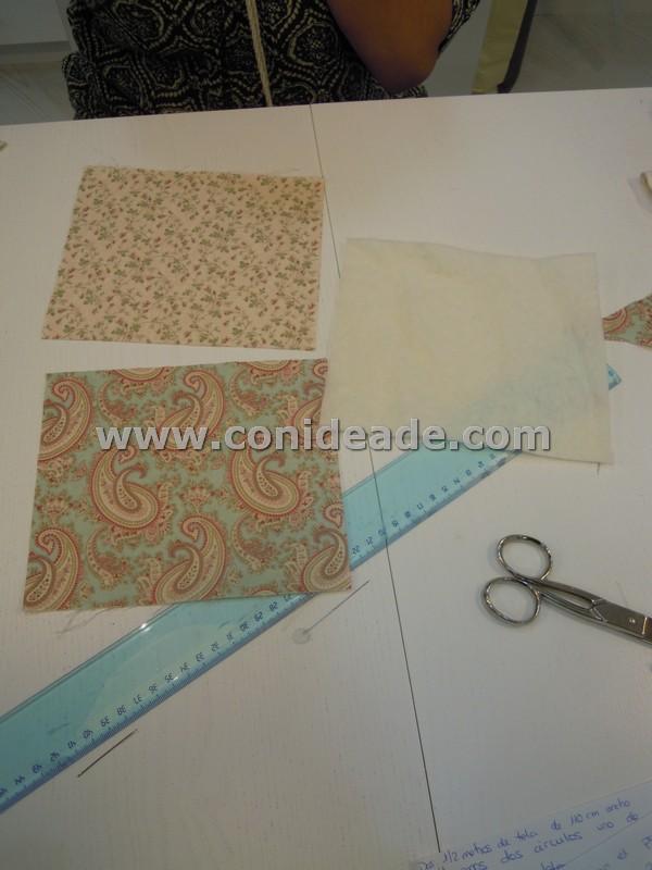 Tutorial funda tijeras con tela patchwork