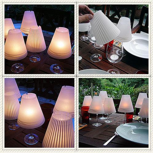 Como hacer un candelabro con una copa de vino - Blog material para ...