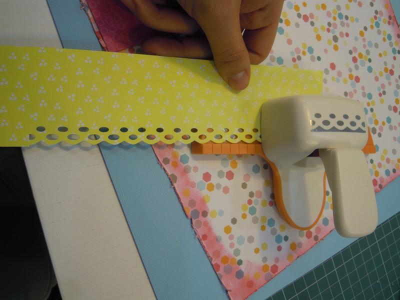 Perforadora de bordes para decorar papel scrap