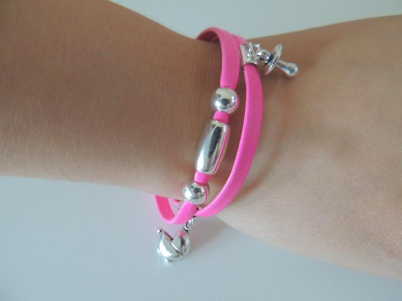 471a2a2eb47e Hacer pulsera de cordón de cuero y abalorios - Blog material para ...