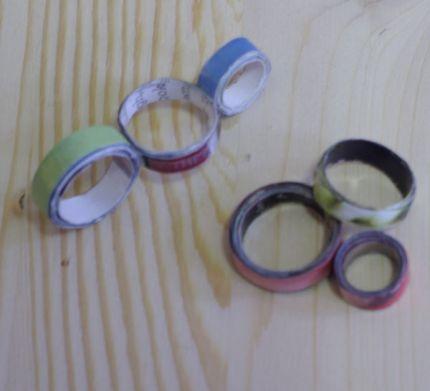 aros de papel para hacer pendientes