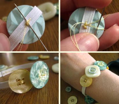 coser los botones a la cinta