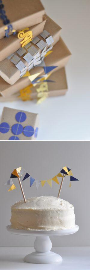 decorar regalos con guirnalda de papel