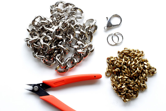 materiales para hacer una pulsera de cadena doble