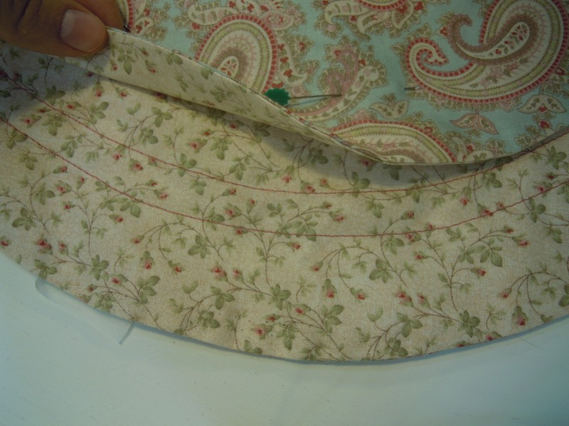 Costura doble para meter cordon del costurero patchwork