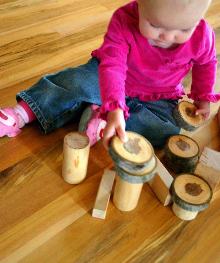 bloques de madera para niños
