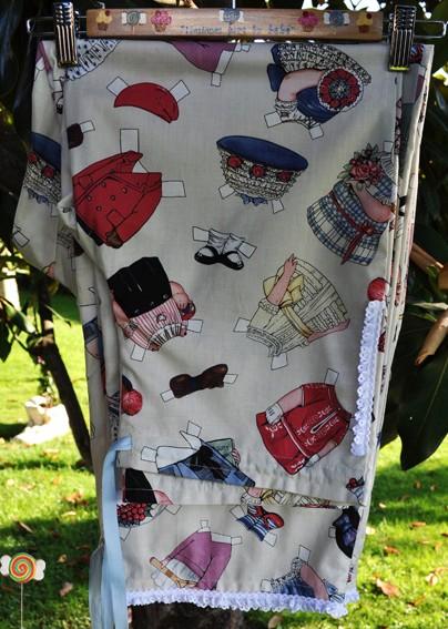 Pijama infantil tela patchwork Angeles y Piruletas