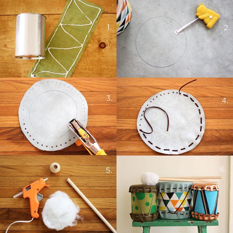 pasos para hacer un tambor