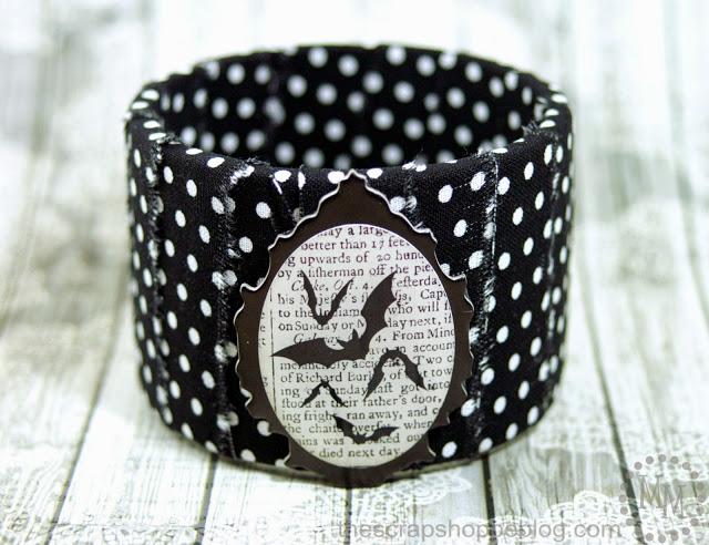 brazalete de tela para halloween