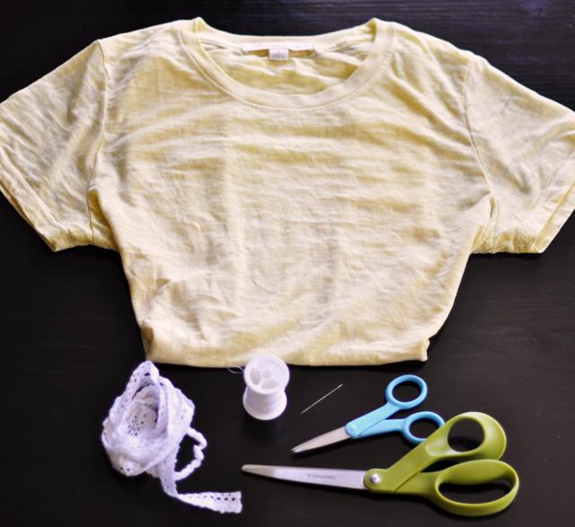 materiales a utilizar para renovar una camiseta