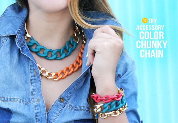 cadenas pintadas de colores