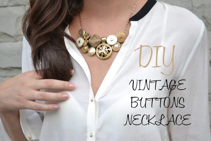 collar de botones estilo vintage