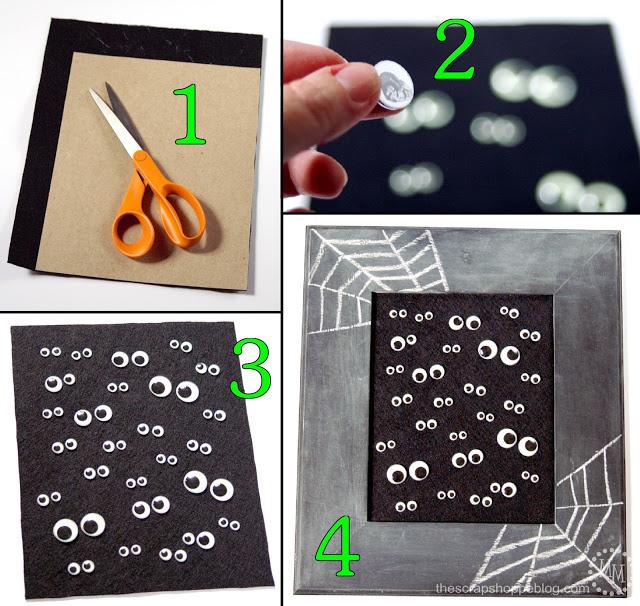 Adorno de ojos mviles para Halloween Blog material para