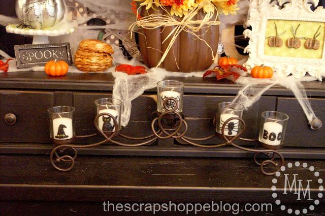 velas decoradas para halloween