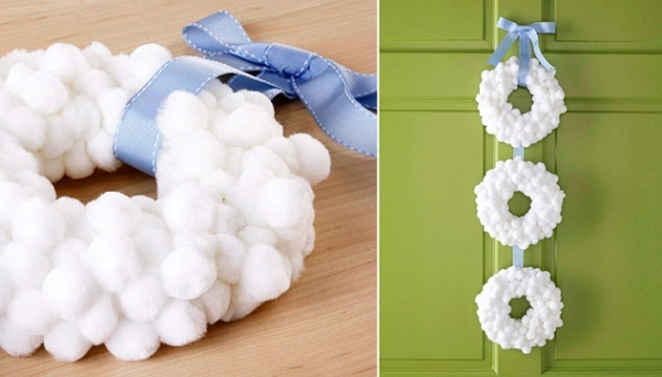 DIY tutorial corona de algodon
