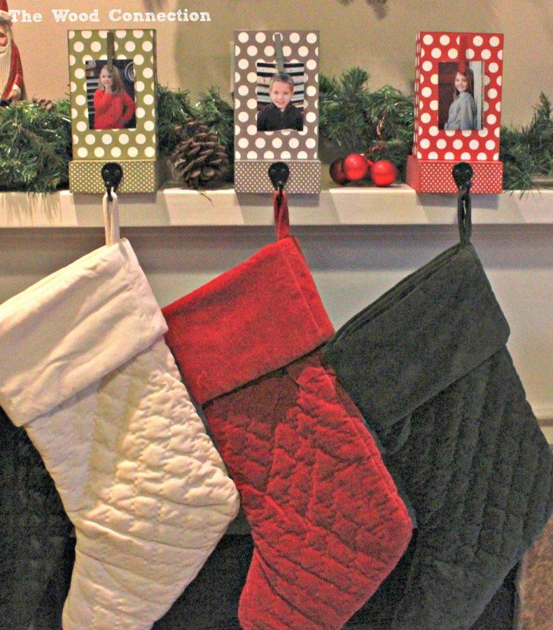 colgadores de colores para nuestros calcetines de Navidad