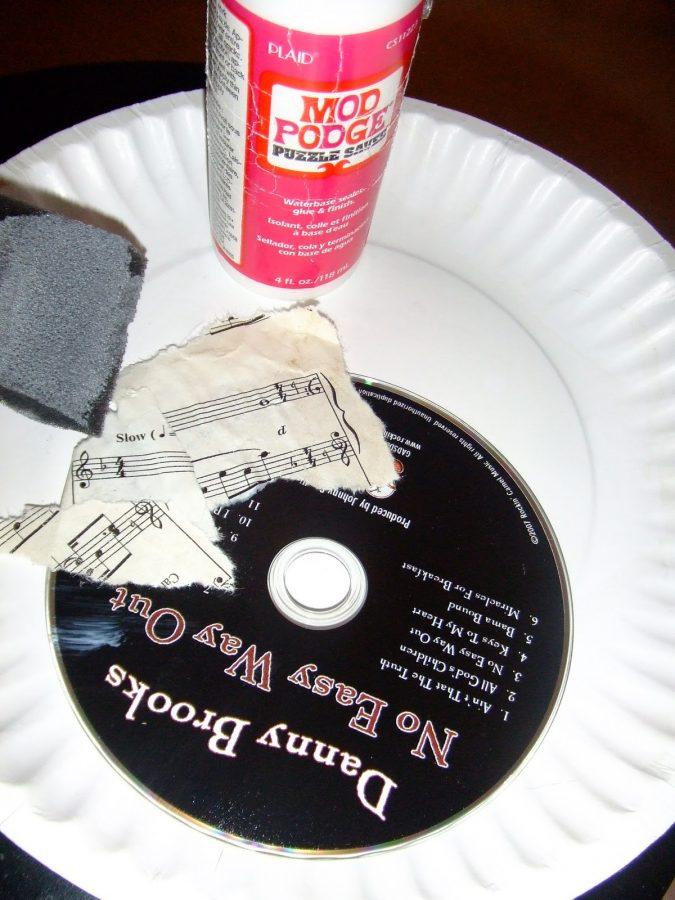 pegar trozos de partitura en cd