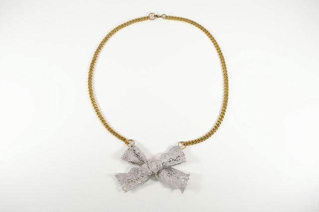 Tutorial handmade collar con lazo de encaje