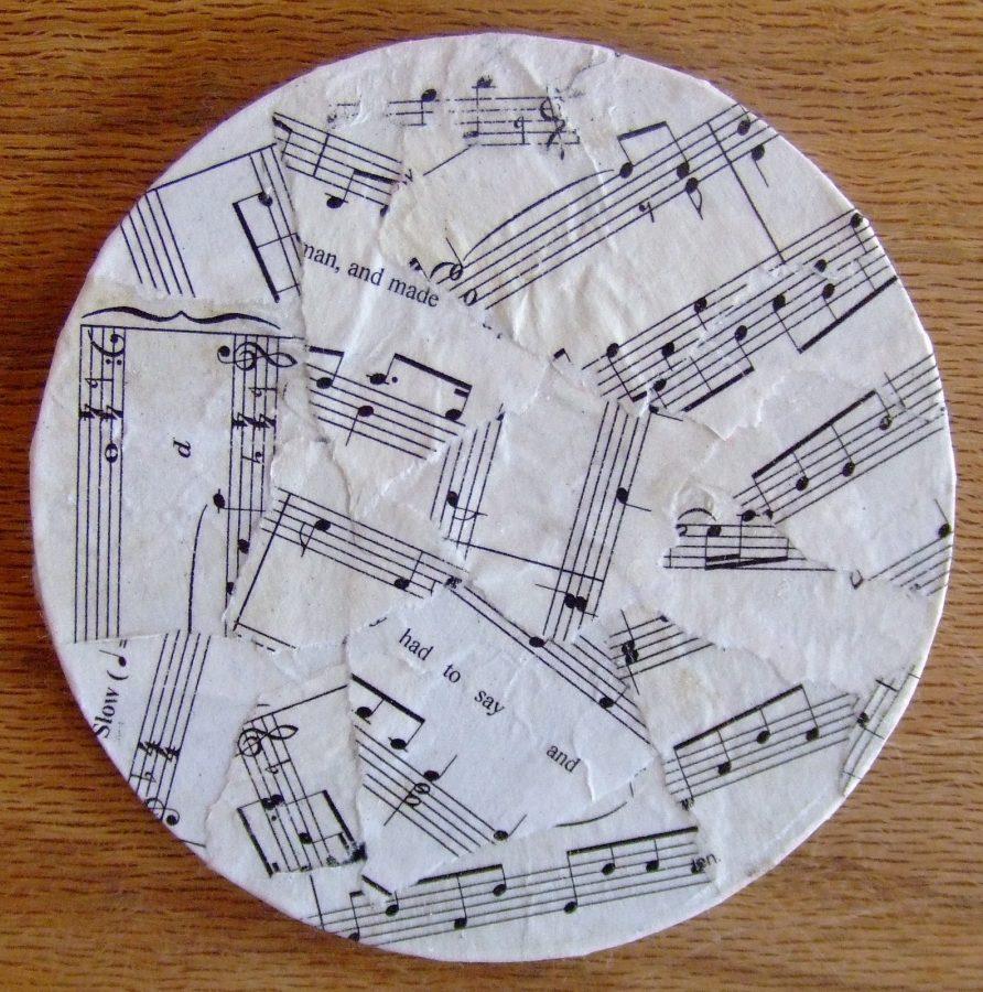 cd tapizado con papel