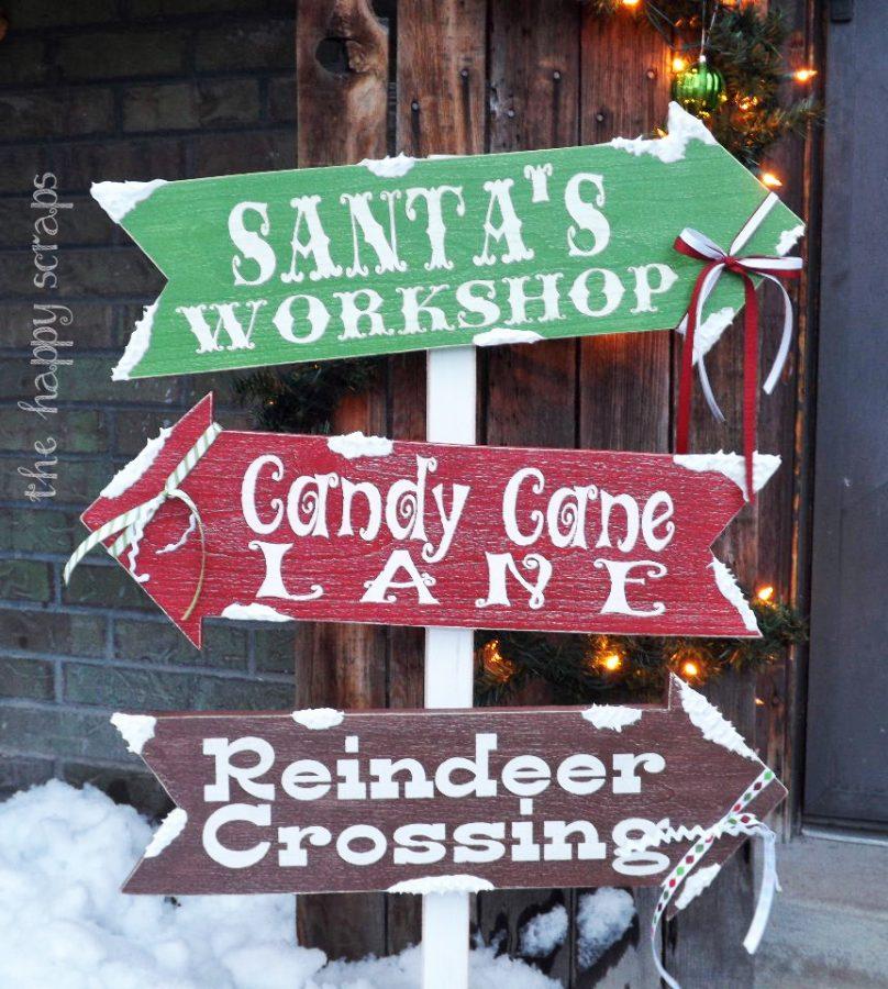 hacer carteles de madera para decorar en navidad