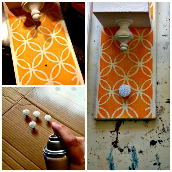 Ultimo paso para hacer toallero decorativo de colores