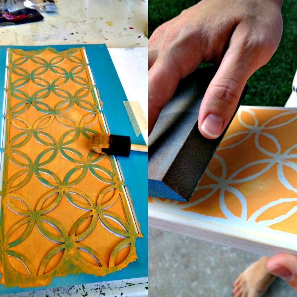paso 3 para hacer toallero decorativo de colores