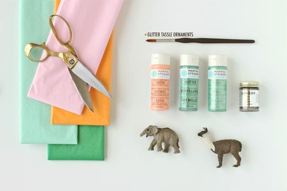 materiales para hacer un adorno navidad animales