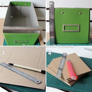tutorial para hacer un organizador de cintas con una caja