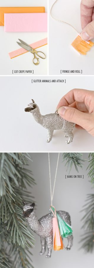 pasos para hacer un adorno de navidad con animalitos