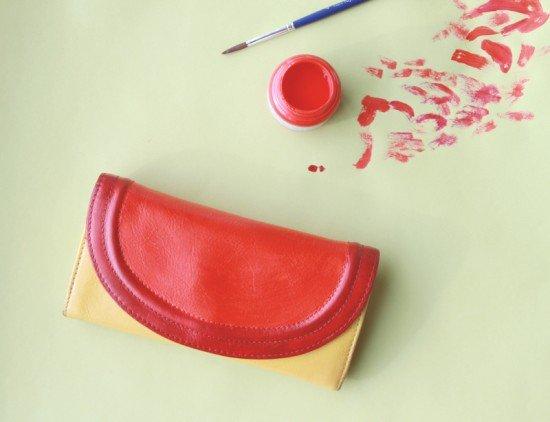 cómo pintar bolso