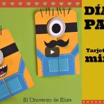 Tarjeta Minion para el día del padre