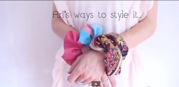 Cómo hacer una goma para el pelo de tela. colas pelo pulseras