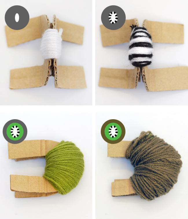 cómo hacer pompones