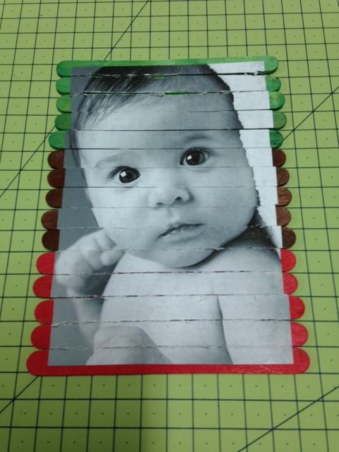 puzzle palitos con fotos para el dia del padre