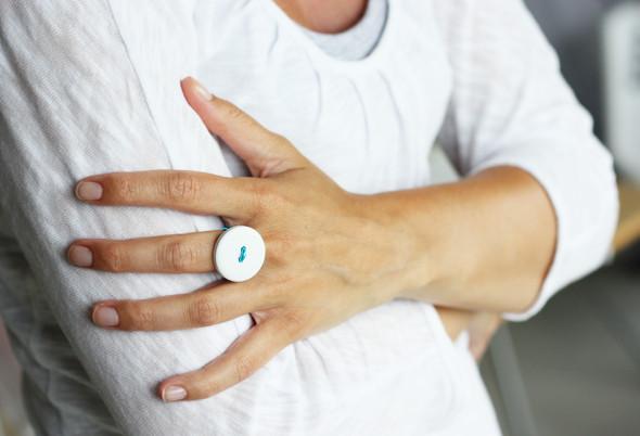DIY anillo botones
