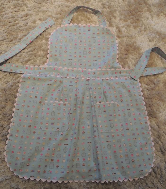 Delantal realizado con tela patchwork