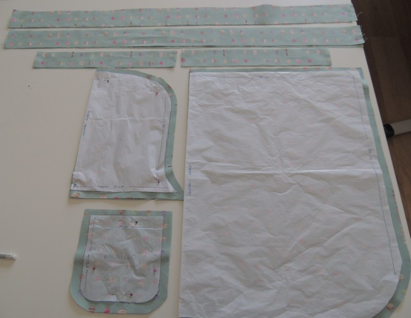 Tutorial piezas delantal patchwork