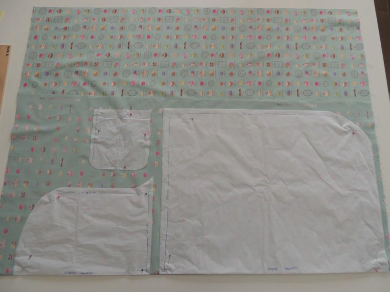 dibujar patrones delantal en tela