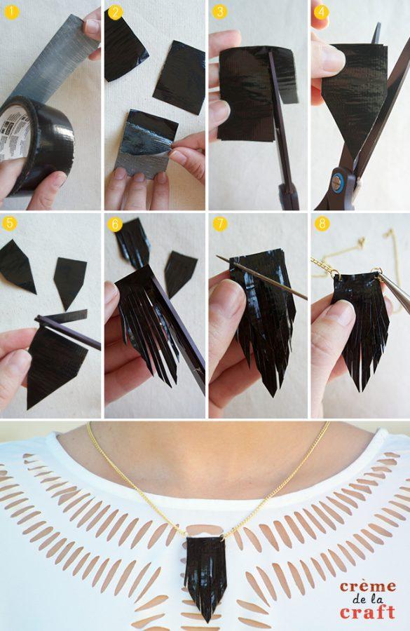 collar hecho a mano Washi Tape
