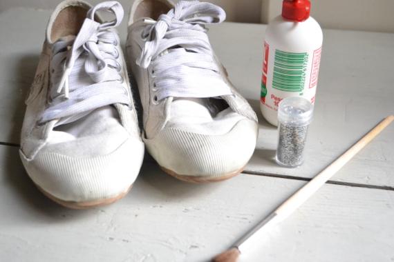 materiales deportivas con glitter