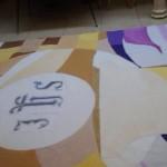 Composicion Corpus decorado con pintura acrilica