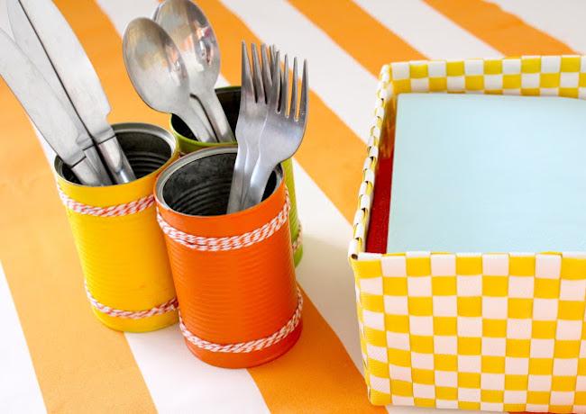 Cómo hacer botes decorados de cocina usando latas vacías   blog ...