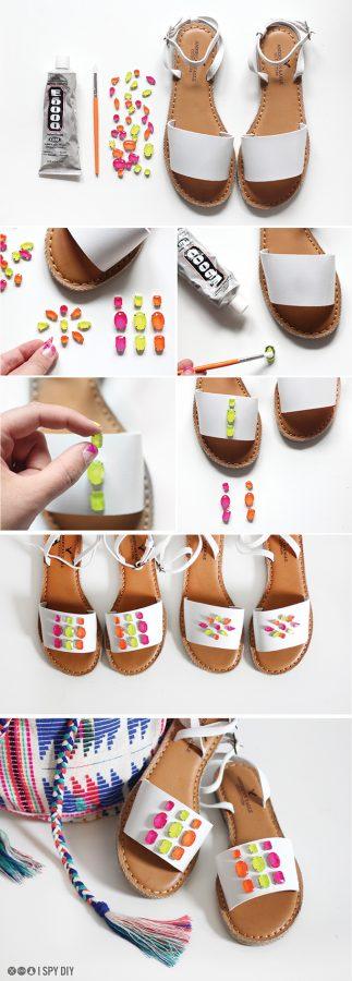 tutorial sandalias neon paso a paso