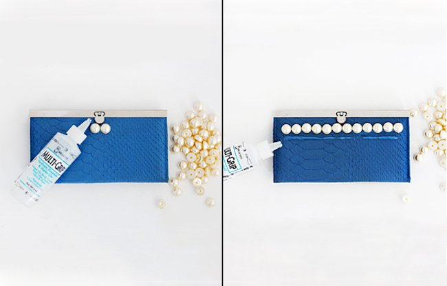 clutch perlas materiales