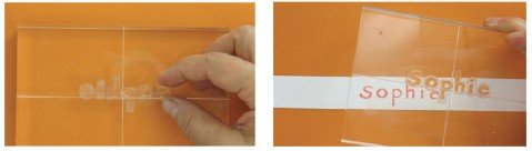 consejos uso letras sellos transparentes Artemio