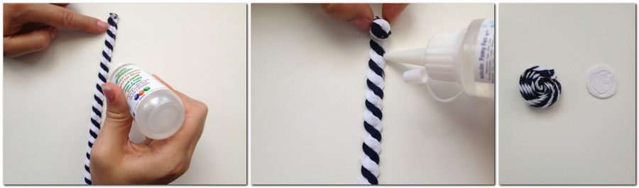 tutorial de como hacer una flor con cinta ondulada